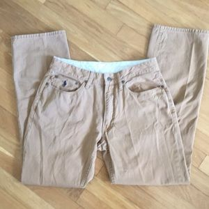 Polo tan , casual pants